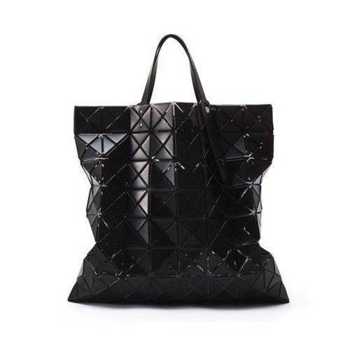 Black matte tote bag